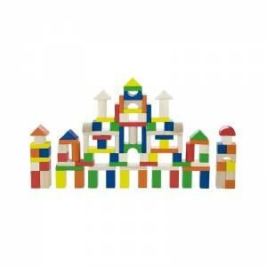Set blocuri constructie colorate 100